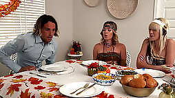 Thanksgiving turns into taboo family orgy
