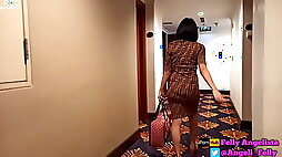 Check in With Beautiful Stewardess from Indonesia