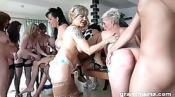 Naked matures in mind blowing sex orgy