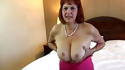 Banging an older GILF slut in her pussy and ass and cumming in her mouth!