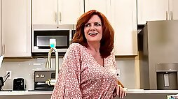 Andi James is regularly milking in the kitchen and attempting not to groan too noisy while nutting