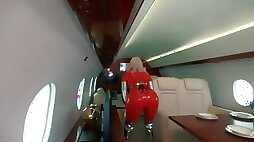 Backstage from photosession catsuits and fly jet photoshoot