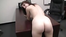BACKROOM CASTING COUCH 18yo Gabrielle Blows big Cock and Takes Dick Like A Super Cheerleader
