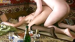 Gross Drunk Slut getting Fucked the Brains Out