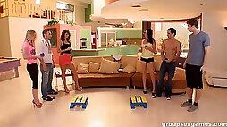 A group sex session with paid in lots of sex games