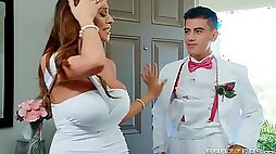 Mature bride cheats on her husband right after wedding