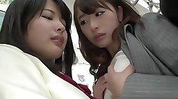 Best Japanese whore in Hottest Lesbian HD JAV movie