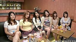 At a night out wild Asian party real girls give strange men blowjobs