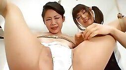 Incredible Japanese whore in Crazy Lesbian BDSM JAV movie