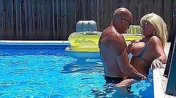 Sexiest Bikini Fuck Ever Pt  Hooters Stepmom Fucks Fit Son In Pool