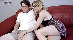 Step mother with enormous hooters dares me to just put in the tip Cory Chase