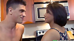 Adorable Latina Stepsister nailed in The Kitchen