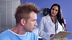Marvelous action in office with thick female doctor with huge jugs