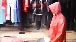 Rubber Raincoat Sex Kleppermantelsex