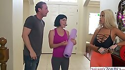 Cheating BF lures stunning yoga instructor Bridgette B to fuck her slit