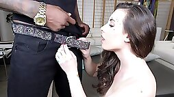 Petite Casey Calvert gets her tight cunt stretched by bbc pov style