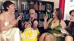 Smoking femdom sissy masks