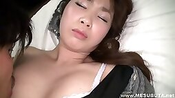 Asian hairy pussy wet