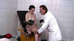 Young German amateur Teen visits the old Cock Doctor