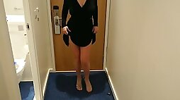 Milf tinder date taking off her dress and she had no underwear on!!