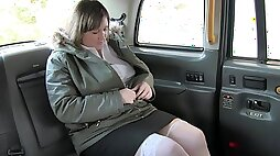BBW Laura Lula gets her pussy fingered before back seat anal