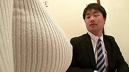 Japanese cutie with amazing huge Asian gets dicked fetish