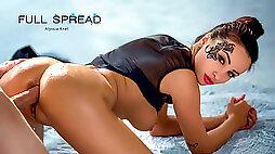 Alyssia Kent Dean Van Damme in Full Spread ElegantAnal