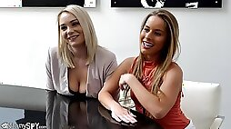 Dick craving blonde Lilly Ford spreads her legs for a nasty fuck