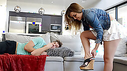 Dillion Harper in Step Sister Curious About Step Brothers Cock SpyFam