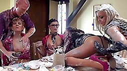 Sweet perverted orgy with awesome beauties