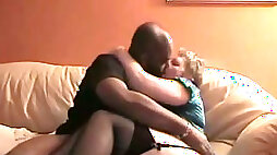 Amazing homemade vid with a chubby mature lady sucking my BBC
