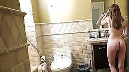 Stepsister gets intimate with her stepbrother in hot POV clip