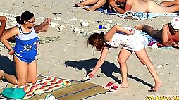 Naked women on the beach to excite us