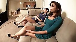 Morgan and Tianna Couch Feet