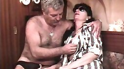 Vintage French with a mature hairy couple