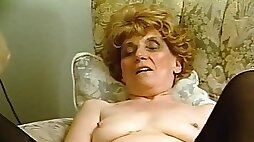 Two vintage milfs sharing a cock Julia Reaves