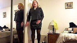 Deanna doll in black dress lingerie