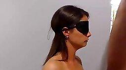 Cuffed blindfolded gagged