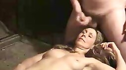 Adult lady enjoying treatments with sperm for her face in the vid