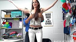 Attractive milf Sofie Marie gets punished for shoplifting