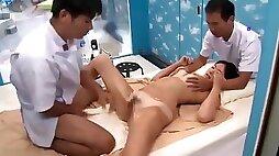 Japanese Suntan Vikini Teen gets Creampied by Masseur