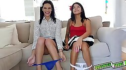 Small tits teen spread her legs wide Eden Sinclair deepthroated and fucked