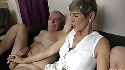 Dirty old and young foursome with Eveline Dellai Ivana Beznoskova