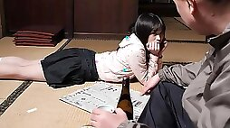 Mai Shimizu in Mai Shimizu had a sexual experience with her nasty step father AviDolz