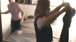 Hawt cheating wife with younger fellow on hidden livecam