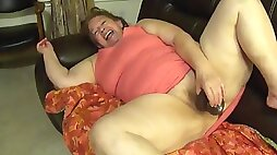Granny sucking and riding dick